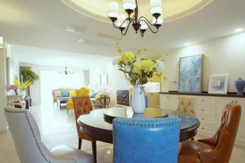 华都美林湾欧式风格装修设计效果图-四居室160平方装修效果图