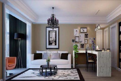 中德英伦联邦现代风格三居室装修设计效果图