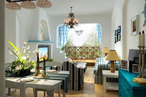 绿地世纪城地中海风格装修效果图VS完工实景图