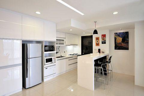 邛崃鑫海天城装修设计效果图-二居室现代风格设计