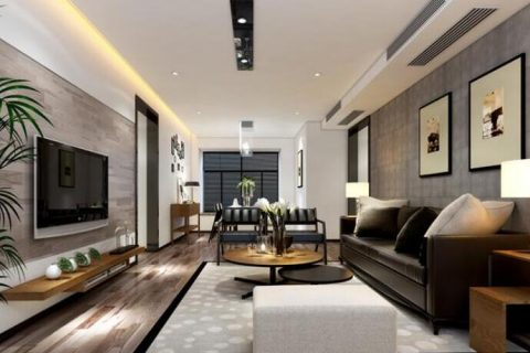 中海天悦府三居室二手房装修设计效果图