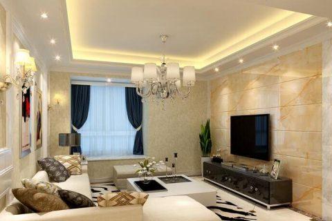 红树林三居室现代风格装修设计效果图