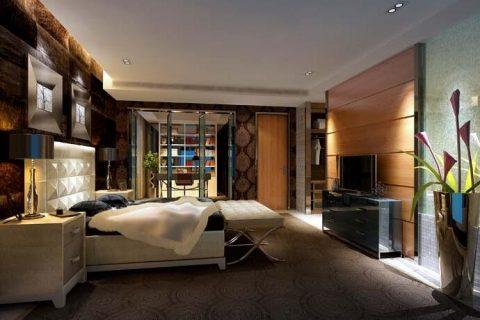 蔚蓝卡地亚装修设计效果图-320平五居室现代风格