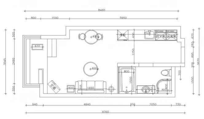 """0平loft公寓北欧混搭设计"""""""